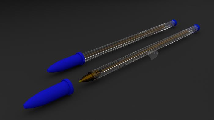3D ballpoint pen Blender