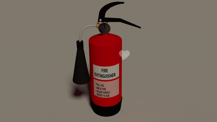3D fire extinguisher Blender