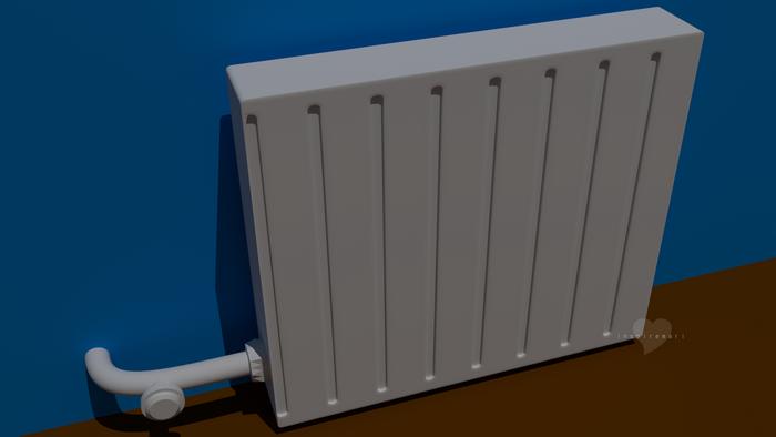 3D Radiator central heating Blender