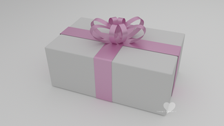 3d giftbox white and pink
