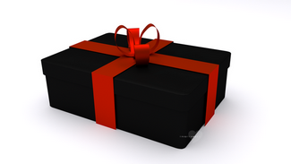 3d giftbox black and red