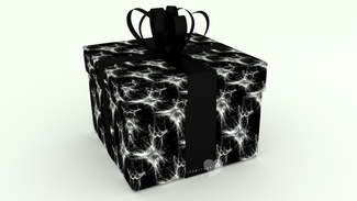 3d giftbox black and white