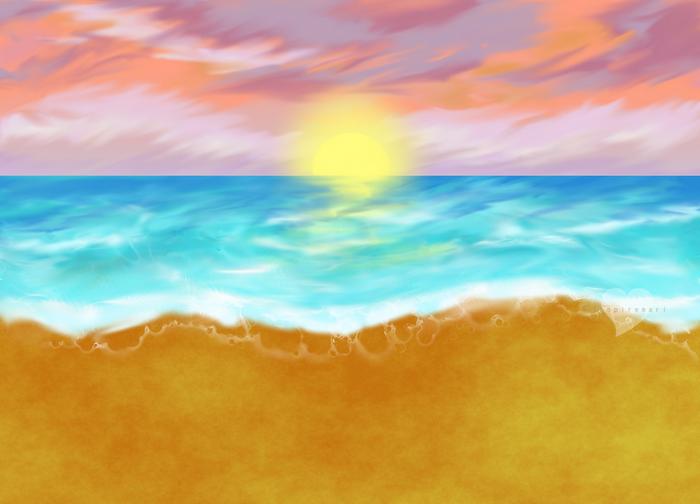 Gimp beach scene art
