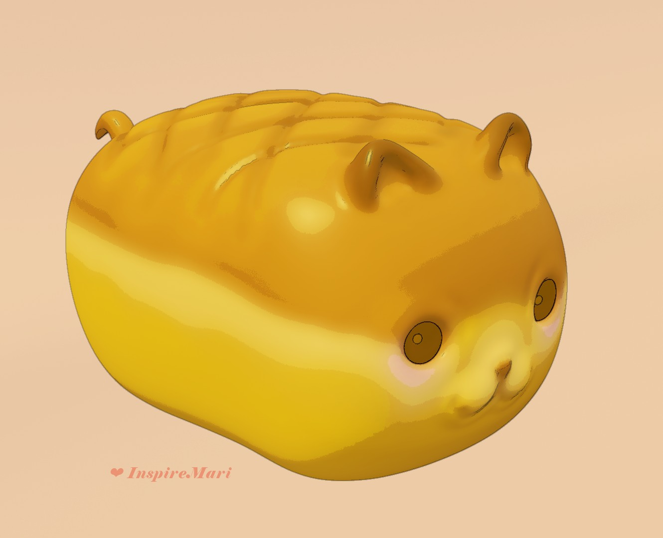 cute cat bread made with blender and gimp