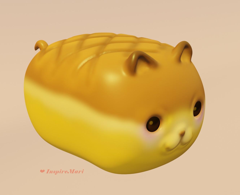 cute cat bread made in blender