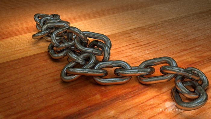 3D Chain made in Blender