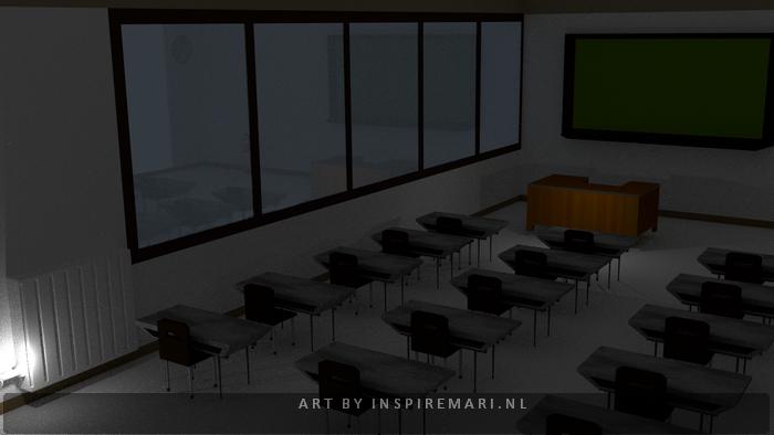 3D Classroom school Blender
