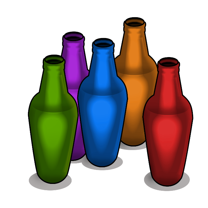Colorful bottles graphic design art