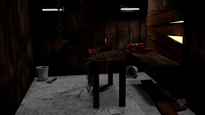 3d dark tool shed gartenhaus sinister dark art