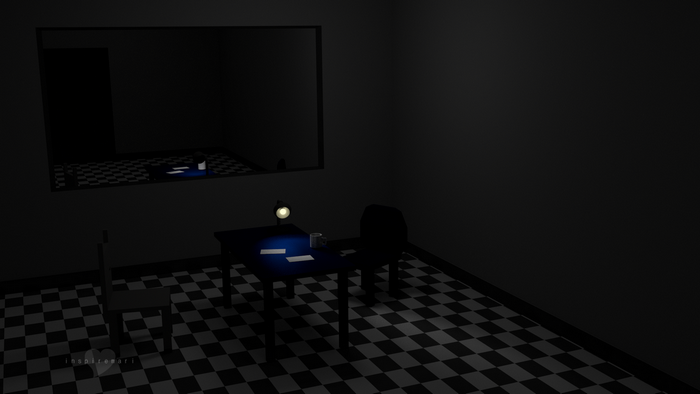 3d blender cycles interrogation room