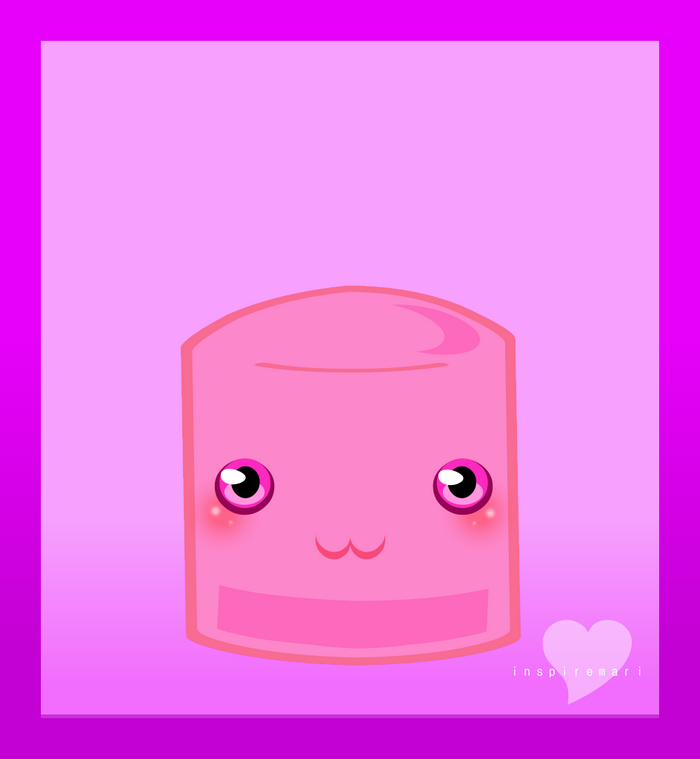 Kawaii Pink Marshmallow