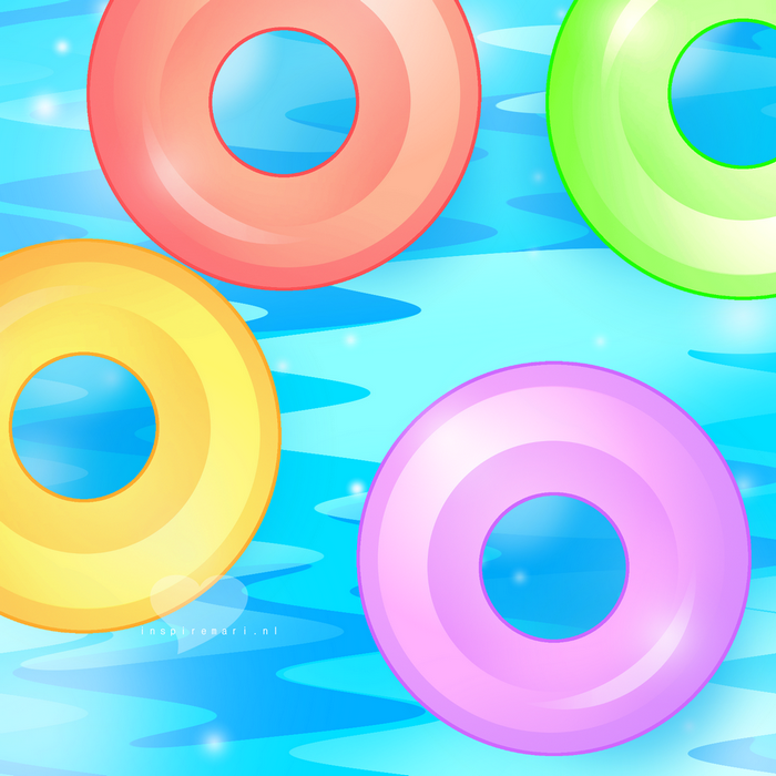 Lifesavers summer water GIMP