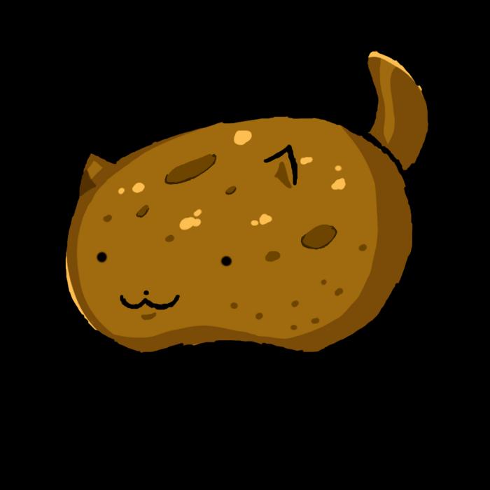 Potato Kitty cute kawaii art cat