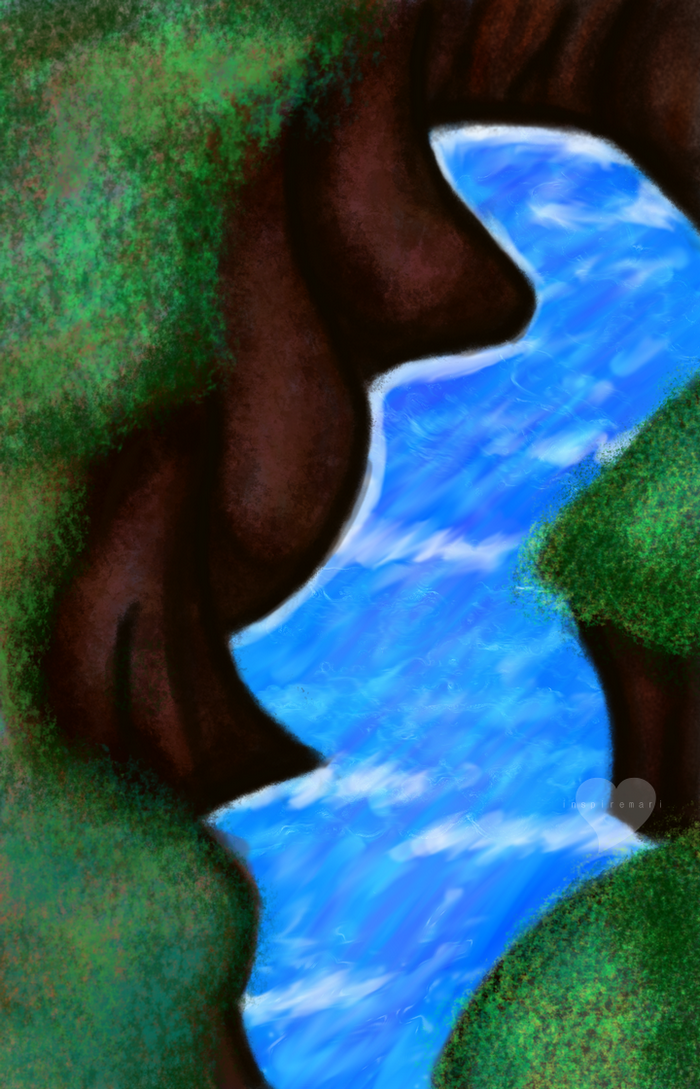 Gimp river scene art
