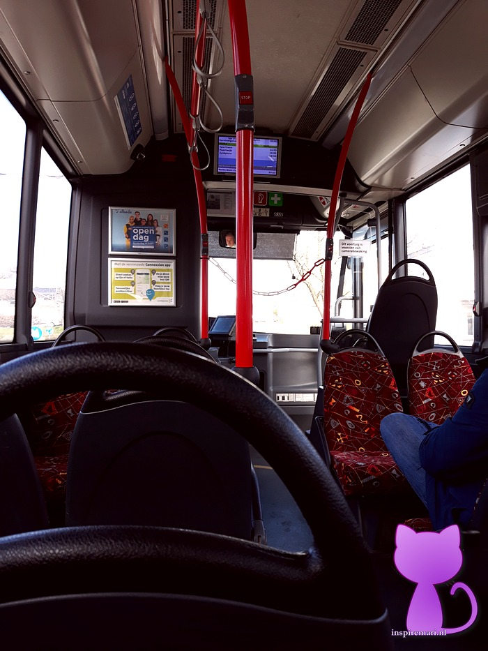 Buses in the Netherlands are equipped with chains to prevent passengers from coming close to the driver