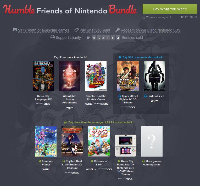 Humble Bundle Nintendo Europe
