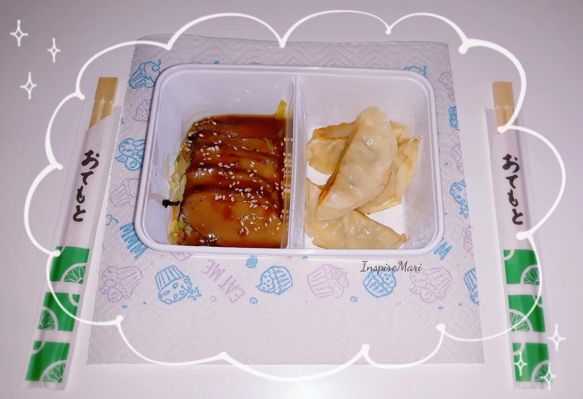 Japanese food ahirue and gyoza