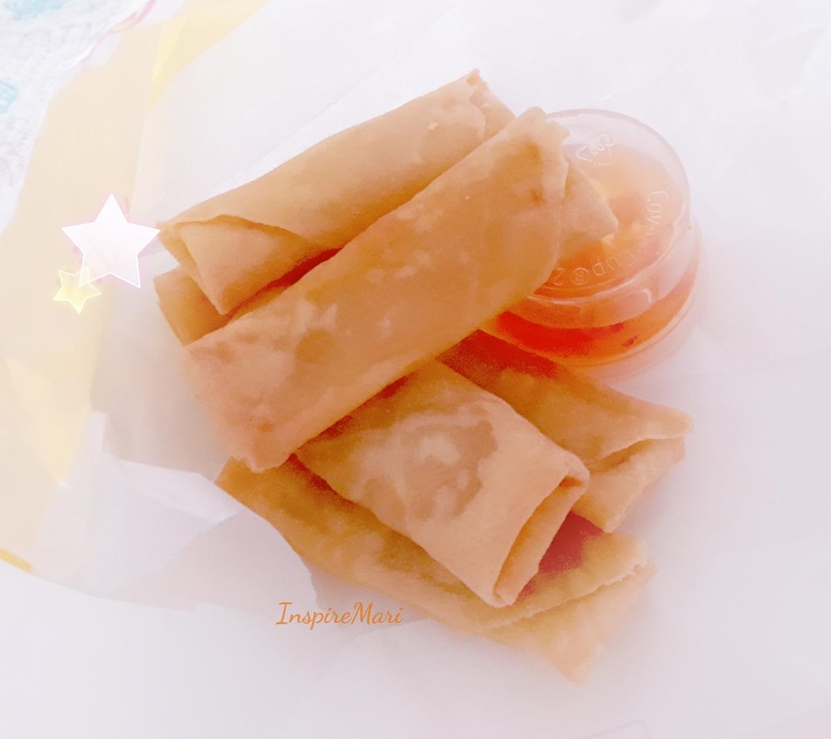 Japanese food haru maki springrolls