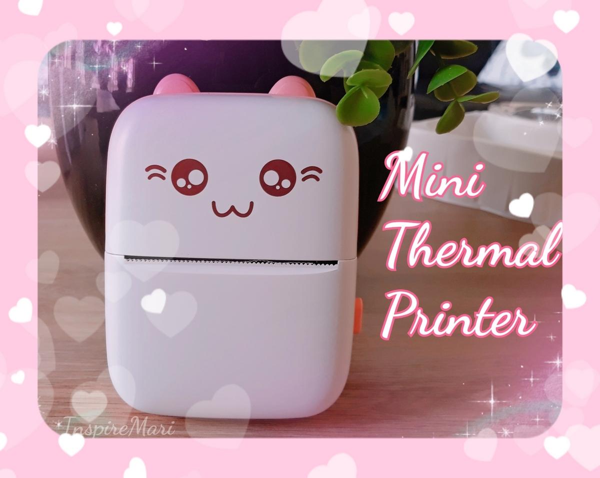 Cute Pink Cat Mini Thermal Printer