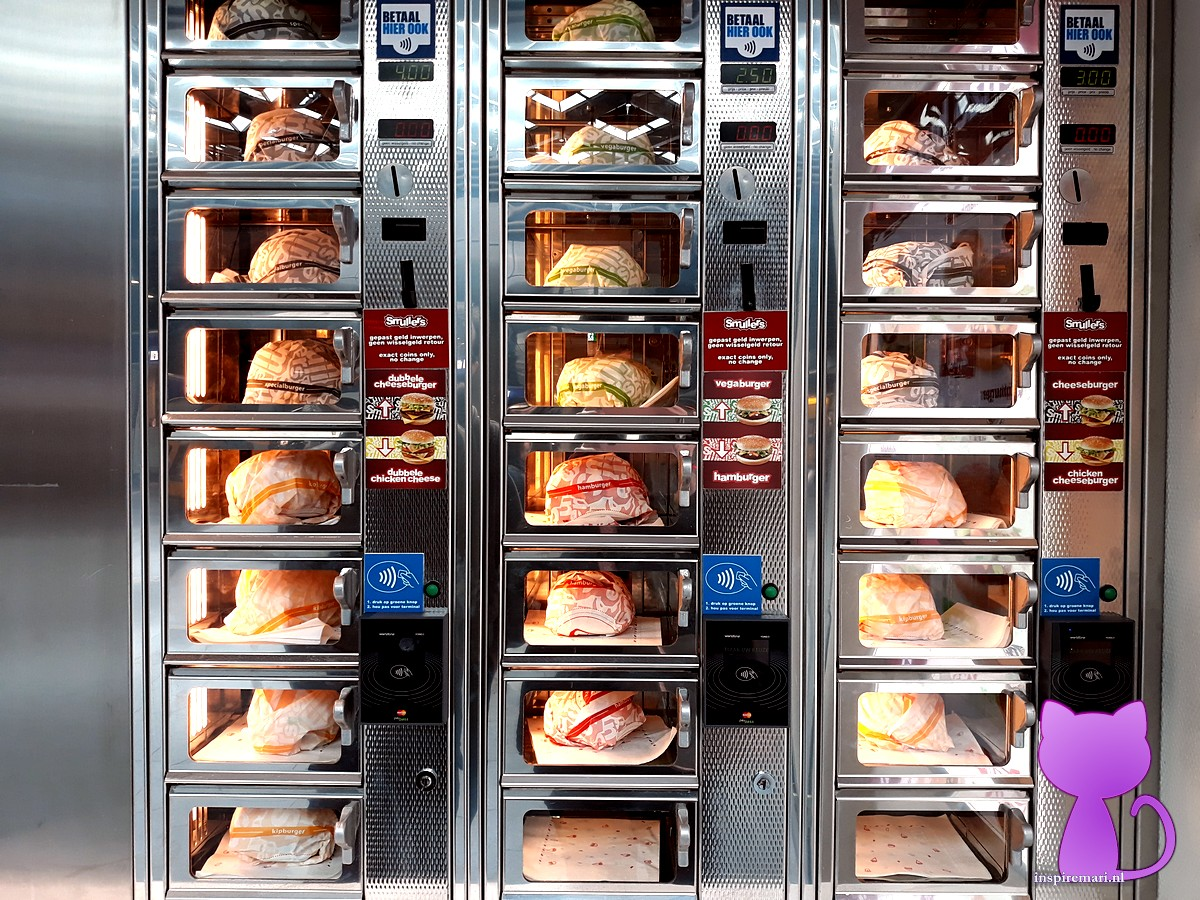 Fast food vending machine from Smullers in the Netherlands