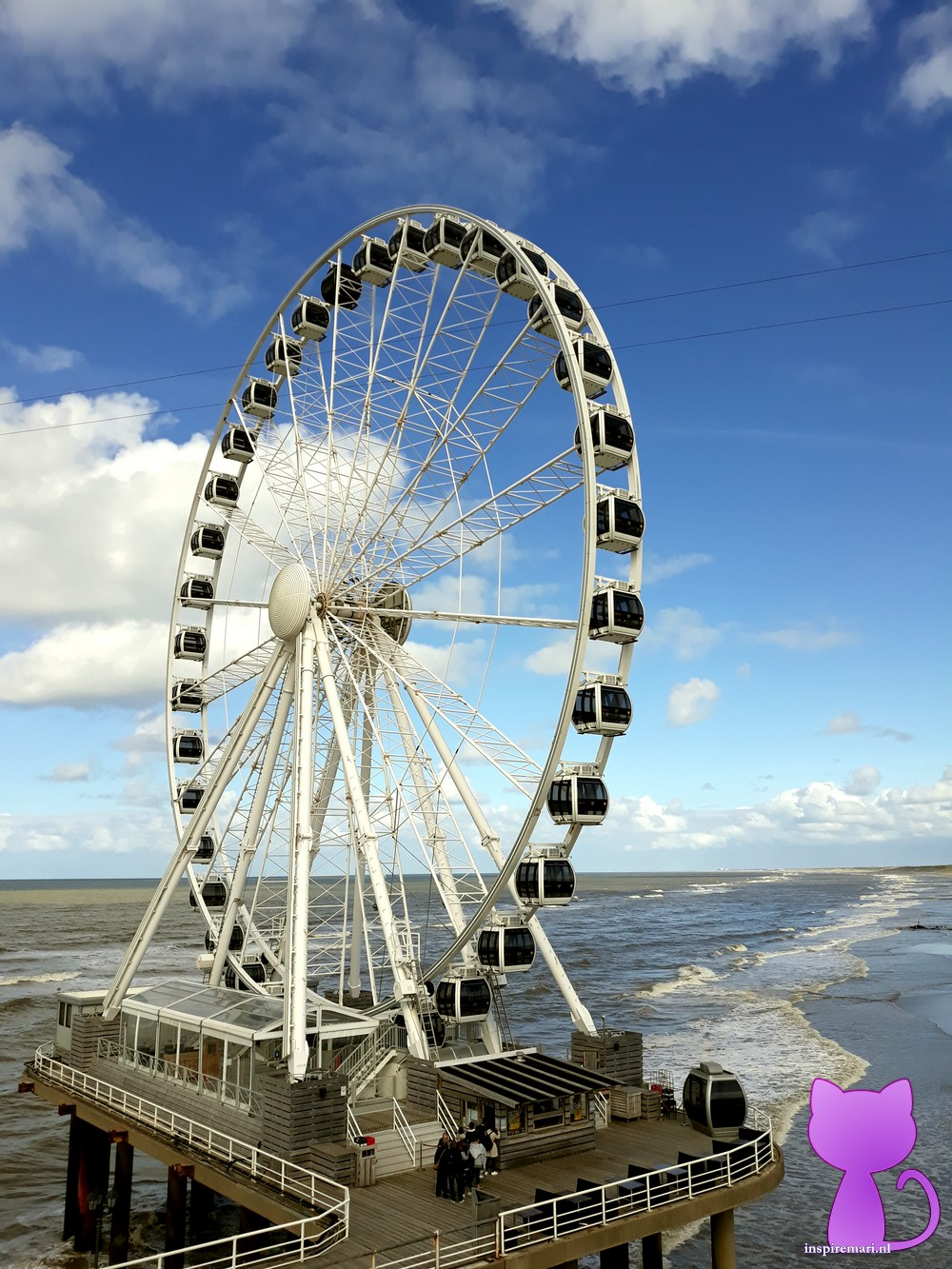 Ferris wheel of Scheveningen near The Hague, the Netherlands