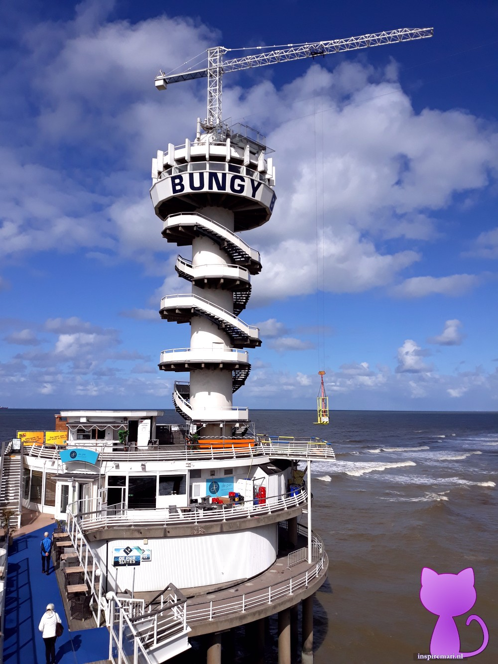 Bungee Jump Holland at Scheveningen the Netherlands