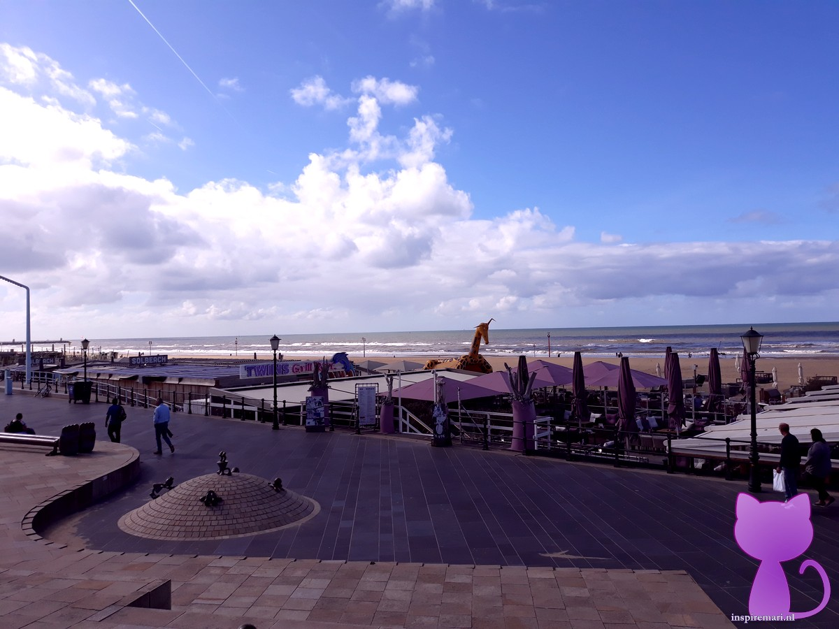 Beach of Scheveningen boulevard near The Hague, the Netherlands