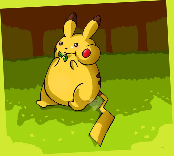 fat Pikachu fanart