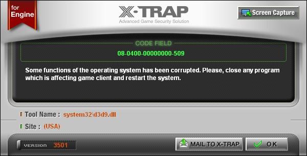 X-Trap Error LaTale