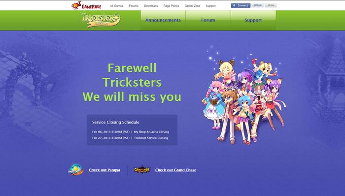 Goodbye Trickster Online