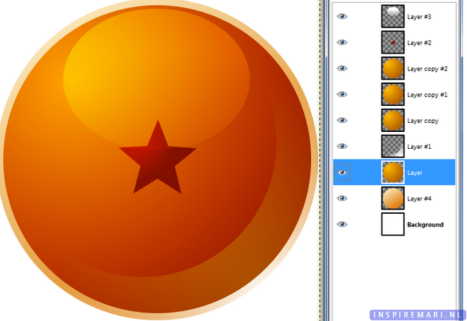 How to make a Dragon Ball in GIMP Tutorial