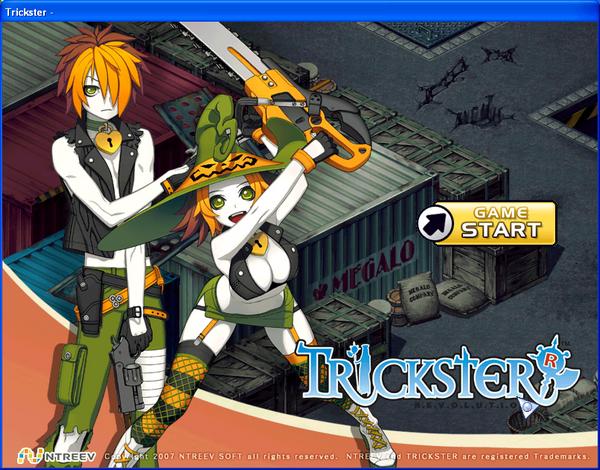 Trickster Online Login Screen
