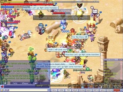 Trickster Online GM Brawl.