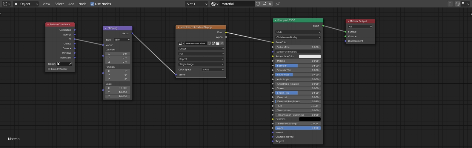 Note on how to apply texture scaling in Blender 2.9 cycles