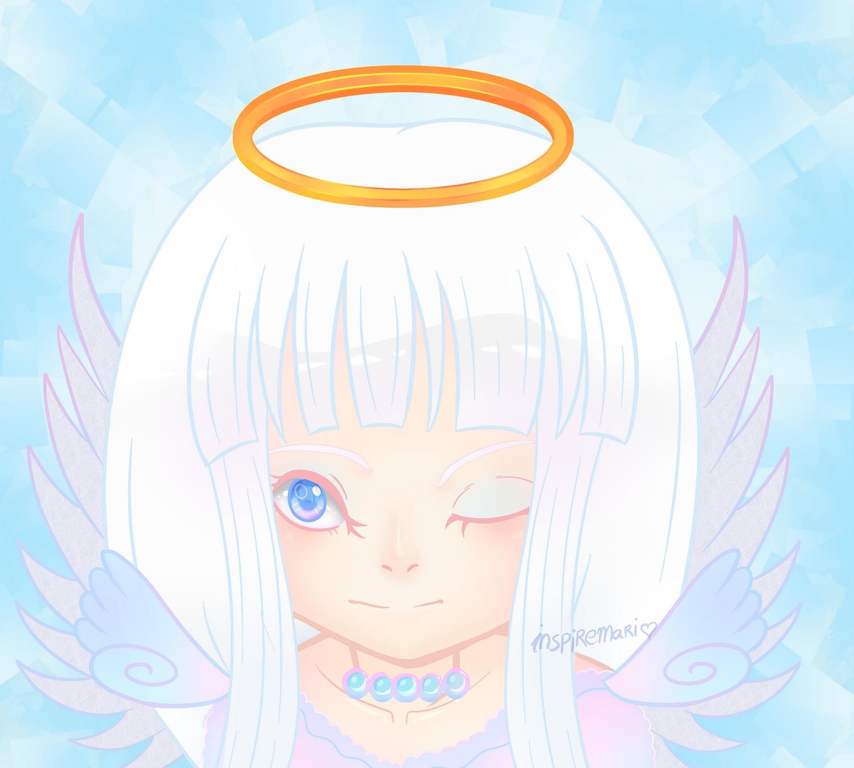 Kawaii Chibi Angel Headshot