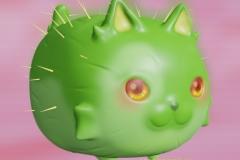 3D Cactus Cat