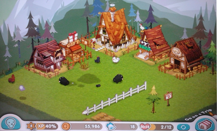 farm sim cute kawaii game with animals