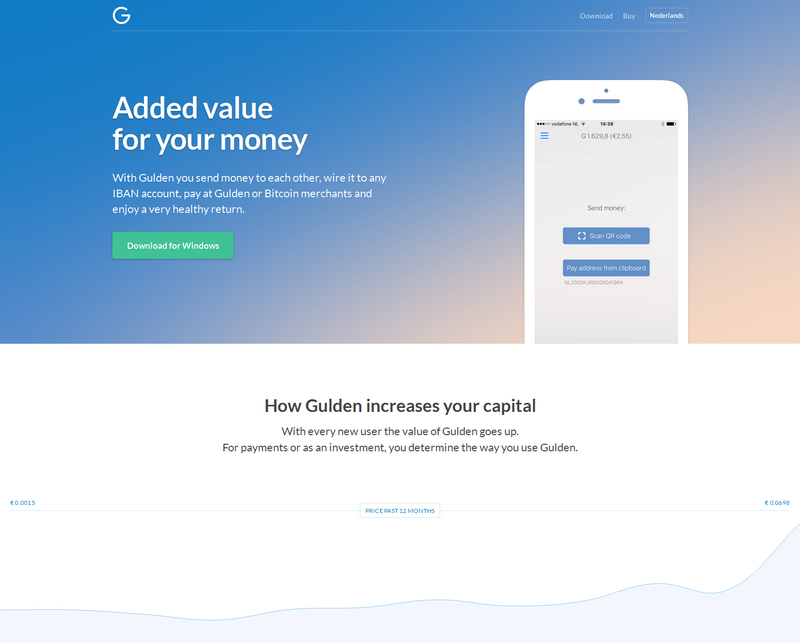 Cryptocurrency Gulden is taking off