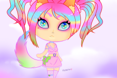 Colorful Wolfgirl Chibi