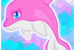Dolphin with Heart Eye