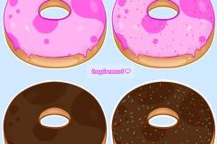 Strawberry & Chocolate Donuts