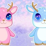 Kawaii Deer Pink and Blue